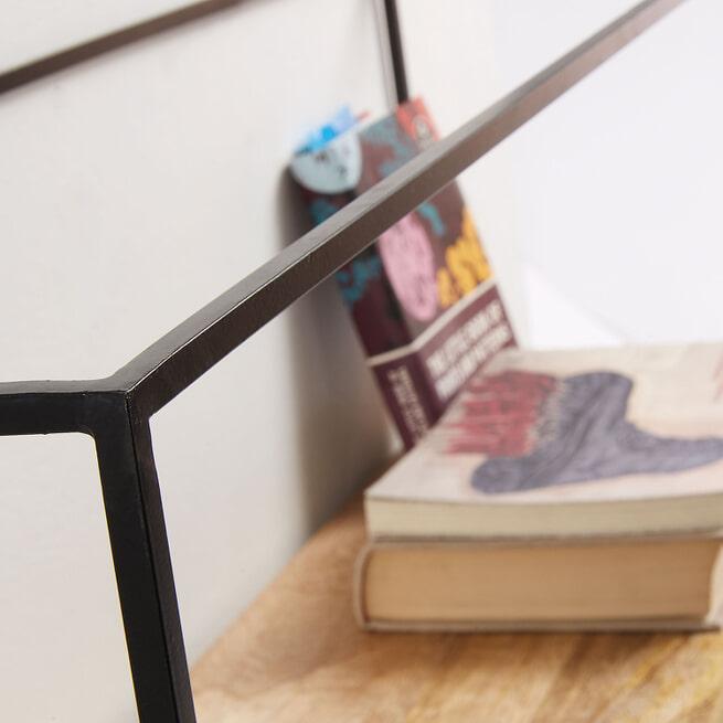 Kave Home Wandrek 'Elisha' 90cm, kleur Zwart