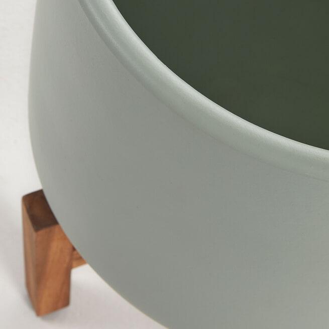 Kave Home Plantenstandaard 'Denpasar' kleur Groen