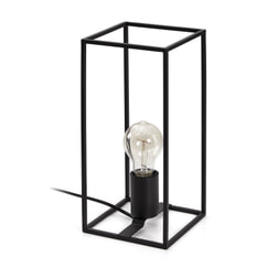 Kave Home Tafellamp 'Lennox' 30cm, kleur Zwart