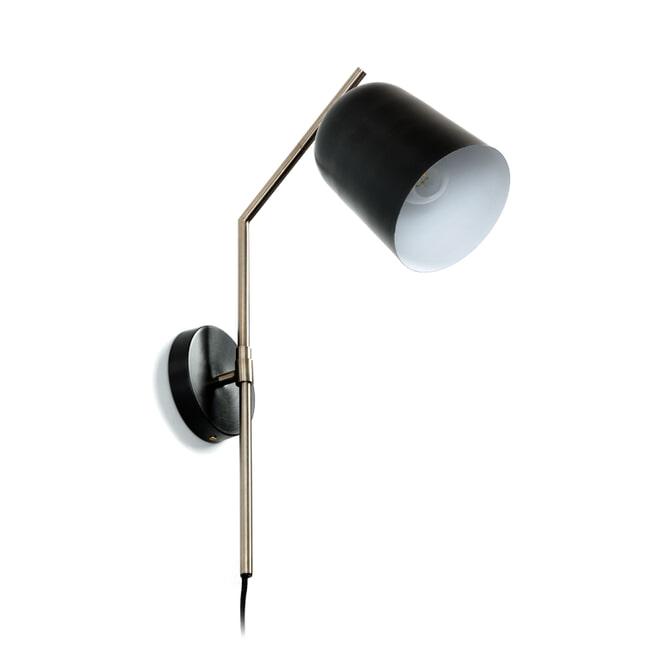 Kave Home Wandlamp 'Pryia', kleur Zwart