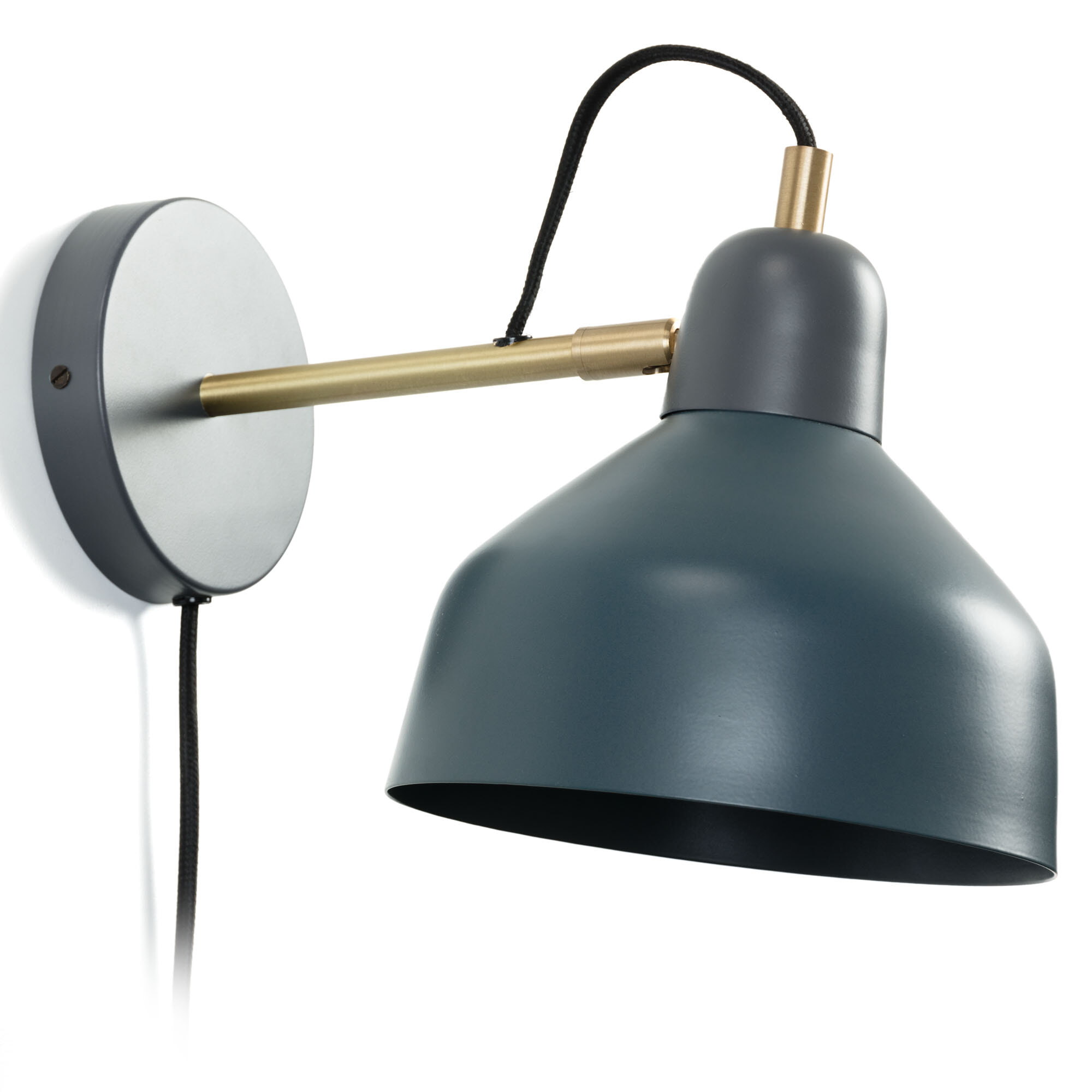 Kave Home Wandlamp 'Olimpia' Ø18,5cm, kleur Petrolblauw