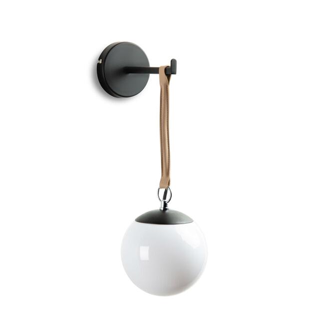 Kave Home Wandlamp 'Monteiro', kleur Zwart