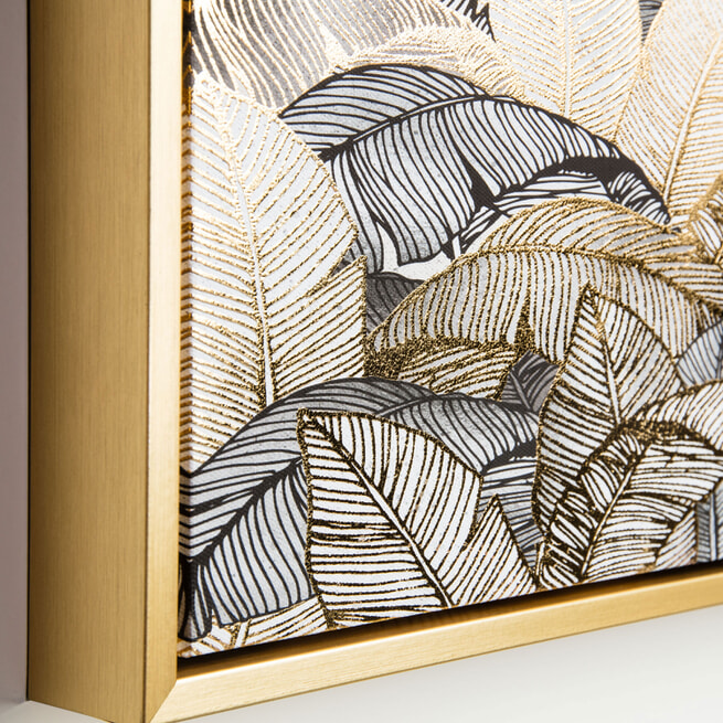 Kave Home Schilderij 'Ibisco' 40 x 40cm
