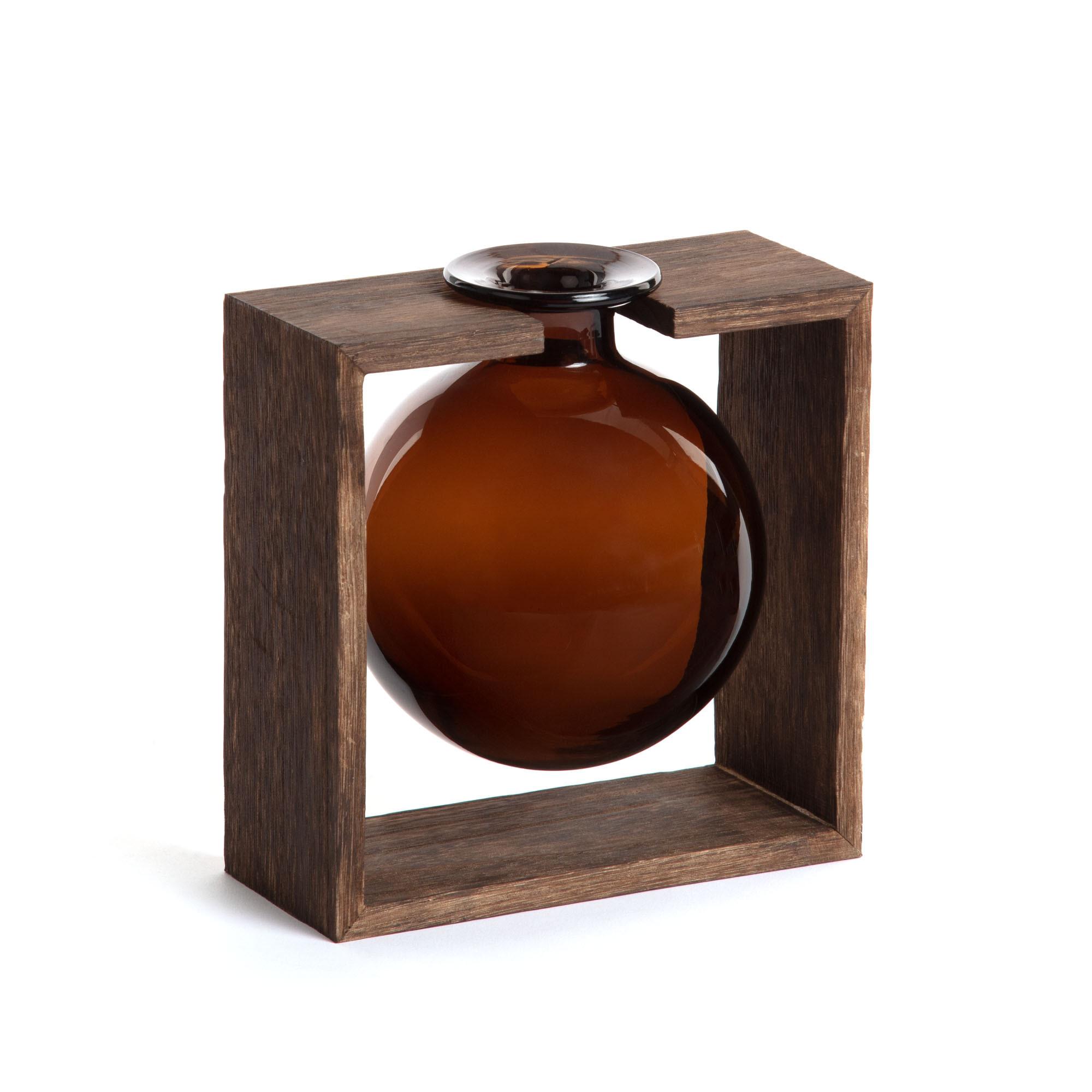 Kave Home Vaas 'Ademia' 20cm hoog, kleur Bruin