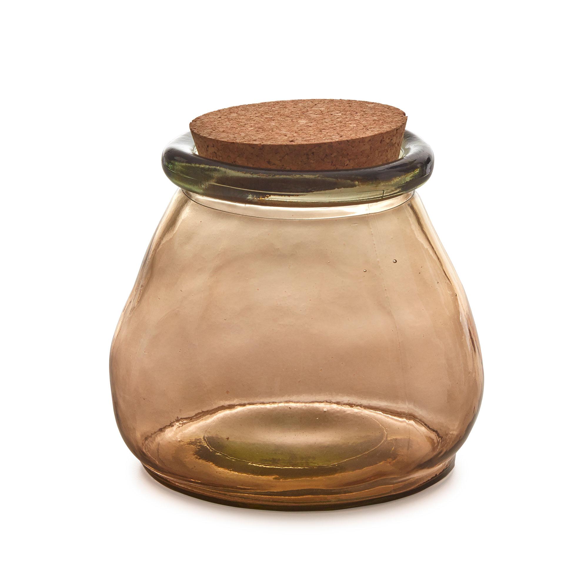 Kave Home Voorraadpot 'Rohan' Large, kleur Bruin