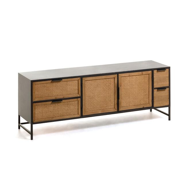 Kave Home TV-meubel 'Kyoko' 150cm, kleur Zwart