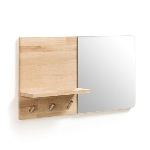Kave Home Kapstok 'Maiten' met spiegel, 35 x 65cm