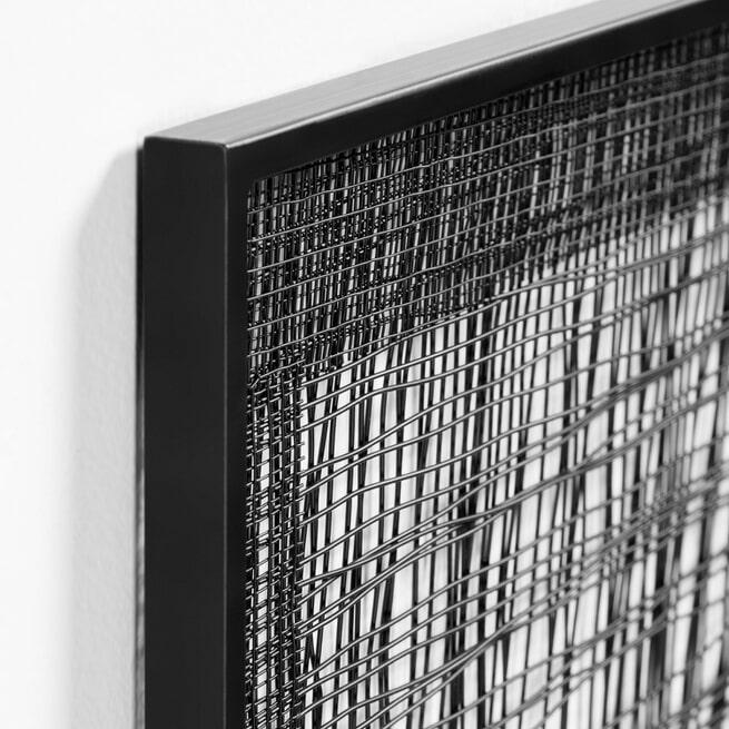 Kave Home Wandpaneel 'Christine', kleur Zwart