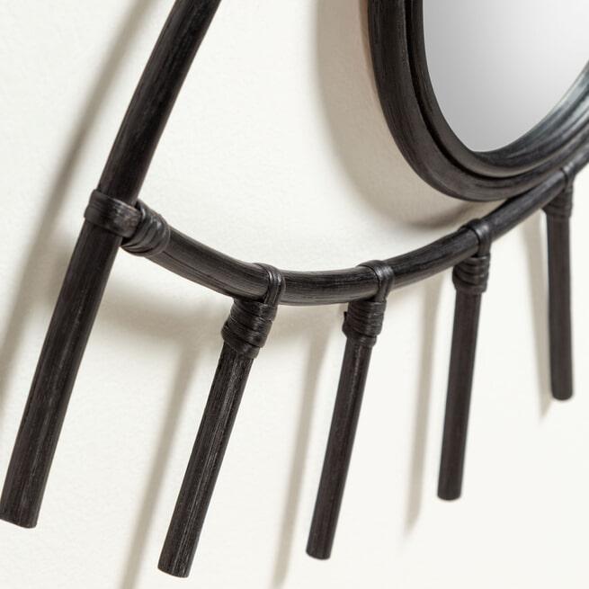 Kave Home Spiegel 'Maela' 45 x 72cm, kleur Zwart