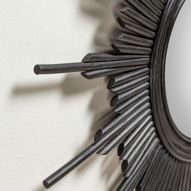 Kave Home Ronde Spiegel 'Marelli' 70cm, kleur Zwart