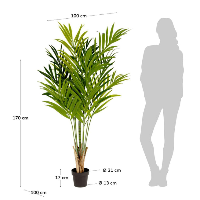 Kave Home Kunstplant 'Zelena Palm'