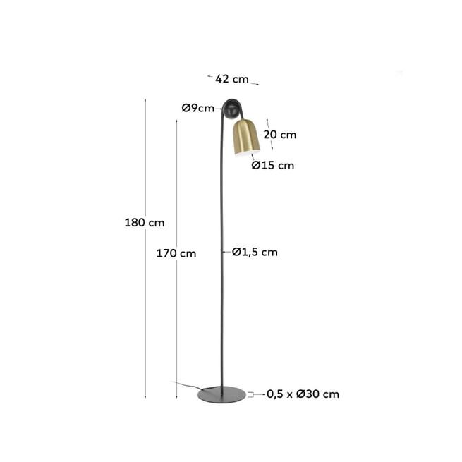 Kave Home Vloerlamp 'Natsumi', kleur Koper