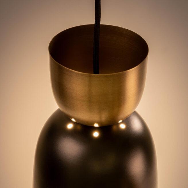 Kave Home Hanglamp 'Sacmis', kleur Zwart