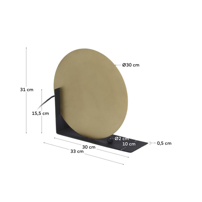 Kave Home Tafellamp 'Stahel', kleur Koper