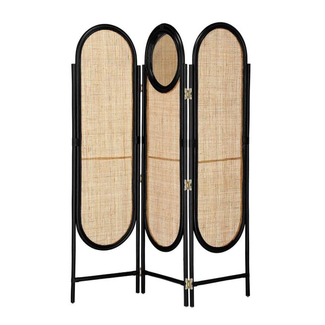 Kave Home Roomdivider 'Lalita' met spiegel
