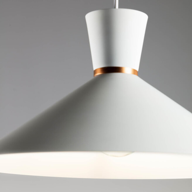 Kave Home Hanglamp 'Vesta', kleur Wit