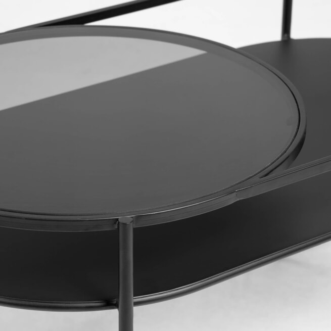 Kave Home Salontafel 'Daheli', Metaal, 80 x 44cm, kleur Zwart
