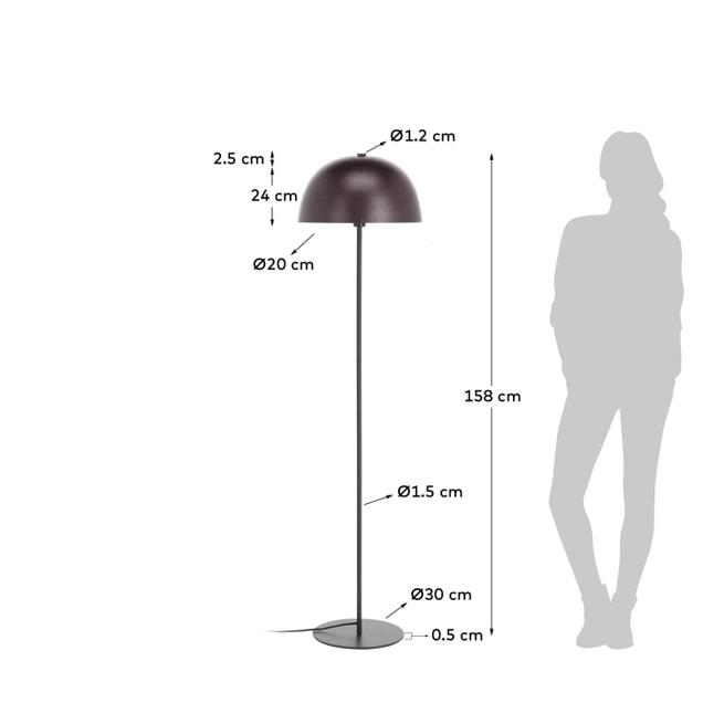 Kave Home Vloerlamp 'Aleyla', 158cm