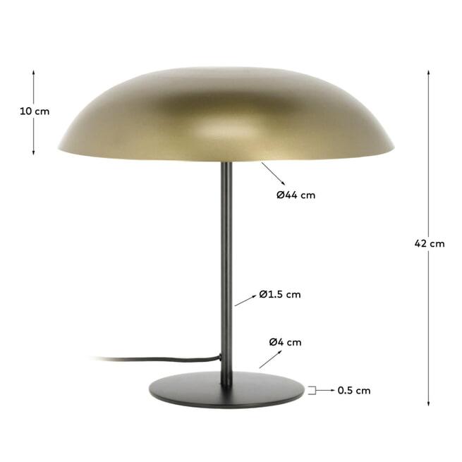Kave Home Tafellamp 'Carlisa', kleur Goud