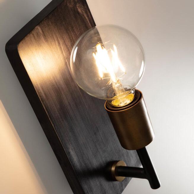 Kave Home Wandlamp 'Jayla', kleur Zwart