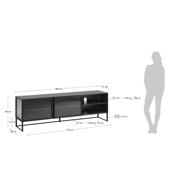 Kave Home TV-meubel 'Trixie' 180cm