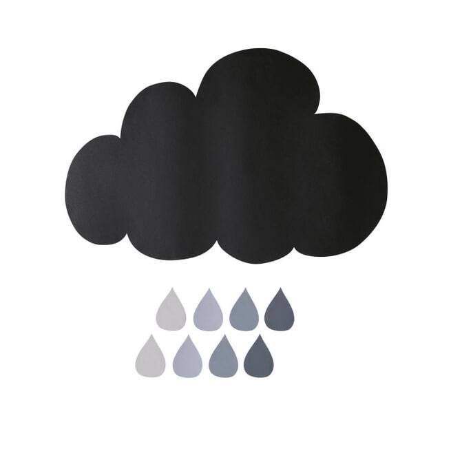 Kave Home Sticker 'Cloud', 73 x 86cm, kleur Zwart