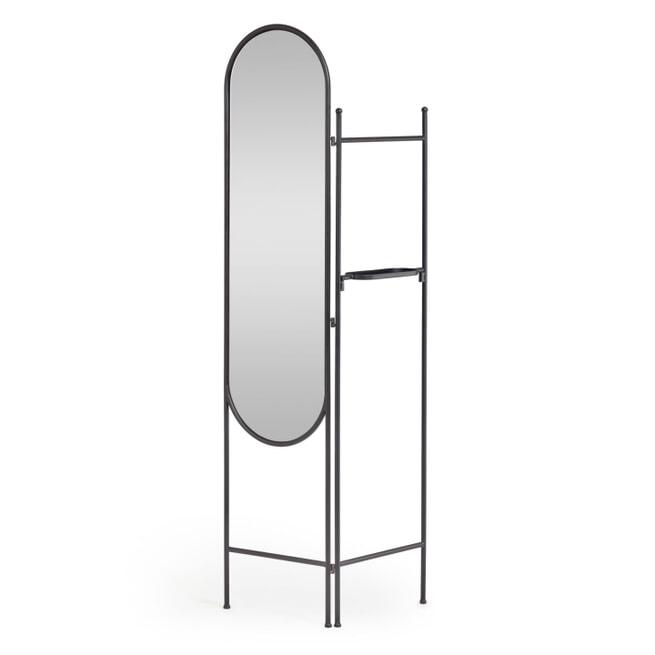 Kave Home Roomdivider 'Vaniria' met spiegel, 183 x 82cm