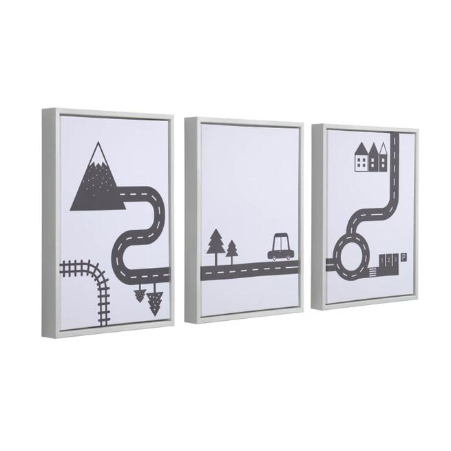 Kave Home Fotolijst met poster 'Nikki', 29,7 x 42cm, set van 3
