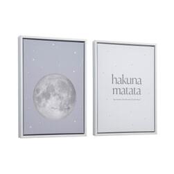 Kave Home Lijst met poster 'Ludmila', 42 x 30cm