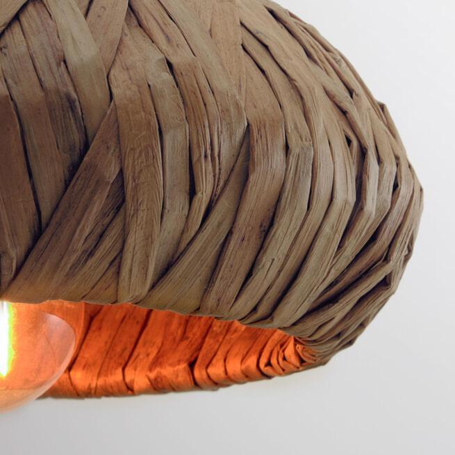 Kave Home Hanglamp 'Malla' 50cm, waterhyacint
