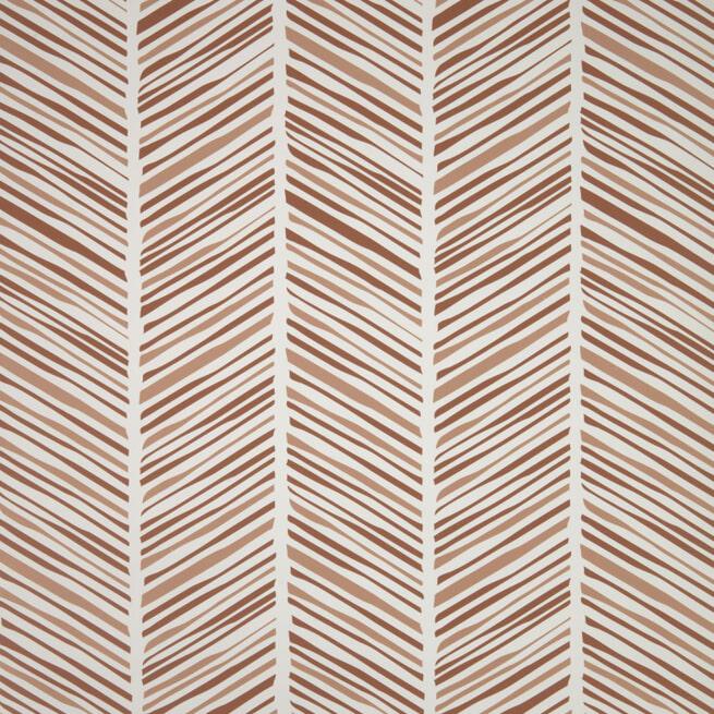Kave Home Behang 'Stripes', 100 x 53cm,  kleur Bruin