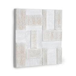 Kave Home Wandpaneel 'Alvida' 50 x 50cm, set van 2