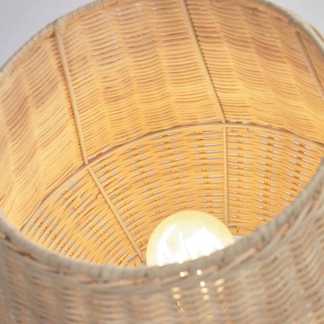 Kave Home Tafellamp 'Kamaria' 30cm, Rotan