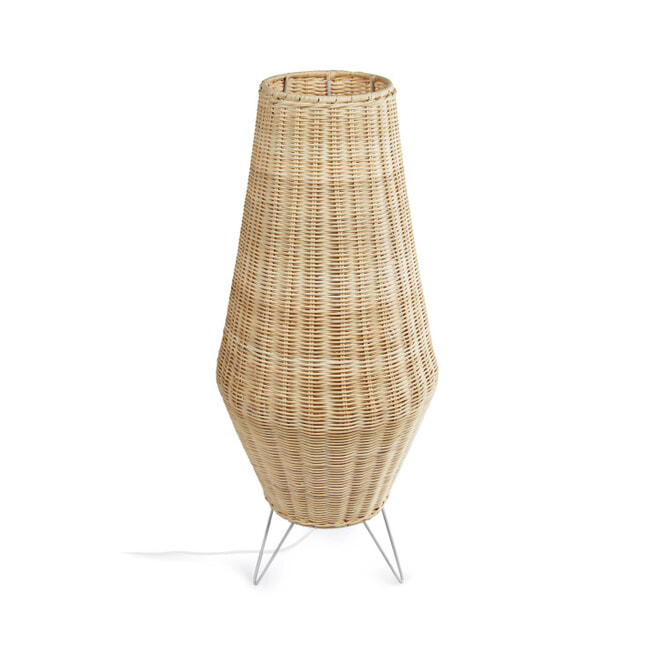 Kave Home Tafellamp 'Kamaria' 71cm, Rotan