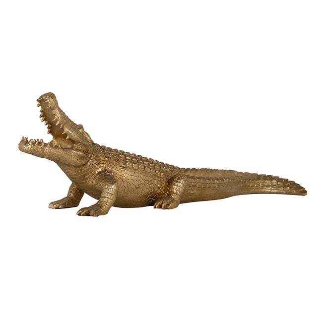 Richmond Decoratie 'Crocodile' 93cm, kleur Goud