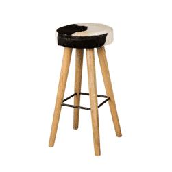 RENEW Barkruk 'Don', 75cm, kleur Zwart/Wit