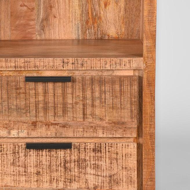 LABEL51 Boekkast 'Glasgow', Mangohout, 70 x 45 x 185cm
