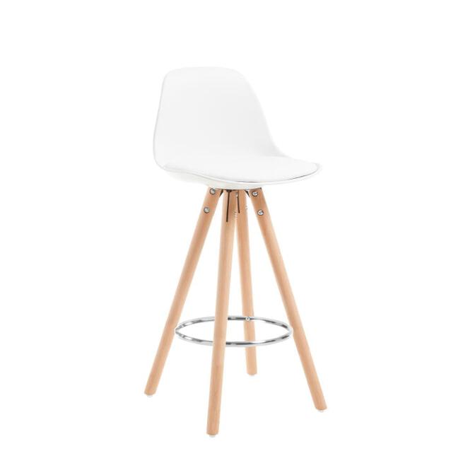 Kave Home Barstoel 'Slad' (zithoogte 65cm), kleur Wit