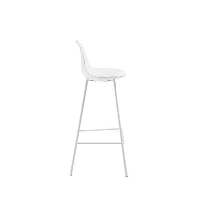 Kave Home Barstoel 'Brighter' (zithoogte 65cm), kleur Wit