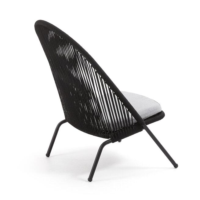 Kave Home Loungestoel 'Shann', kleur Zwart