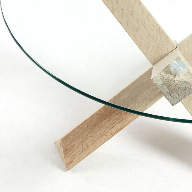 Kave Home Salontafel 'Lotus' 65cm, Glas