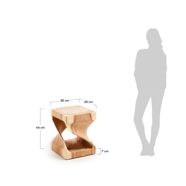 Kave Home Bijzettafel 'Hakon' 30cm, met open binnenkant