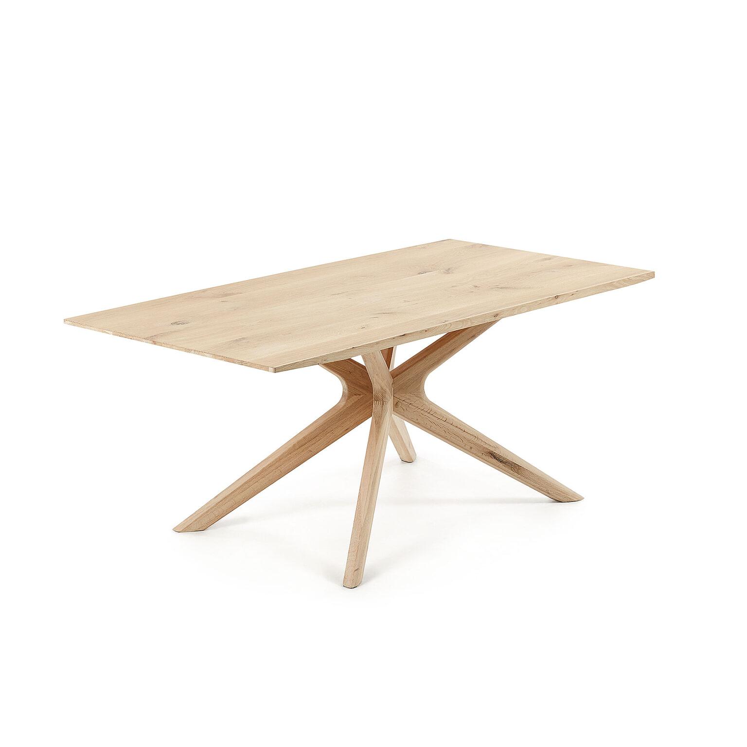Licht Eiken Side Table.Kave Home Eettafel Armande 180 X 90cm Kleur Licht Eiken
