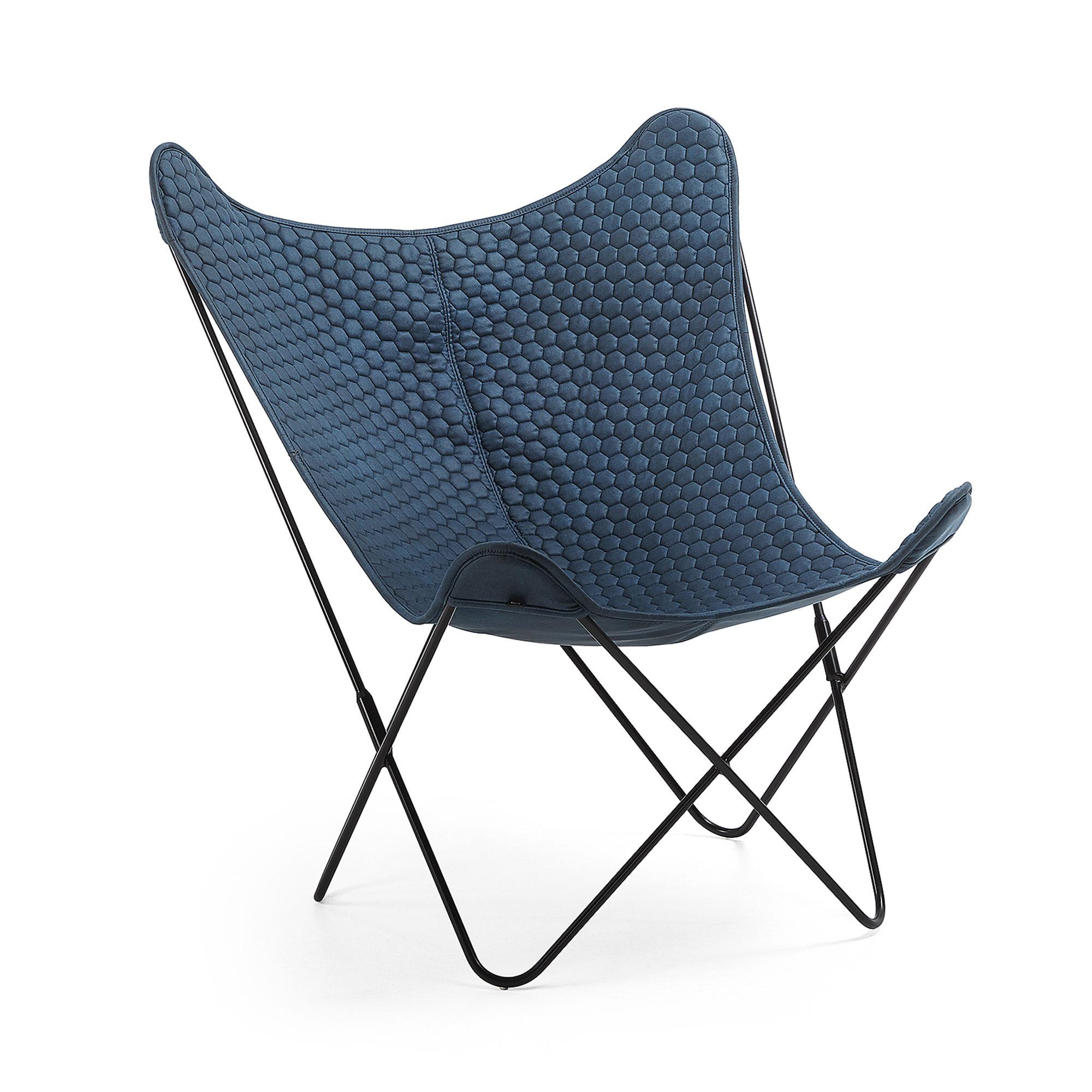 Kave Home Vlinderstoel 'Fly' kleur Blauw