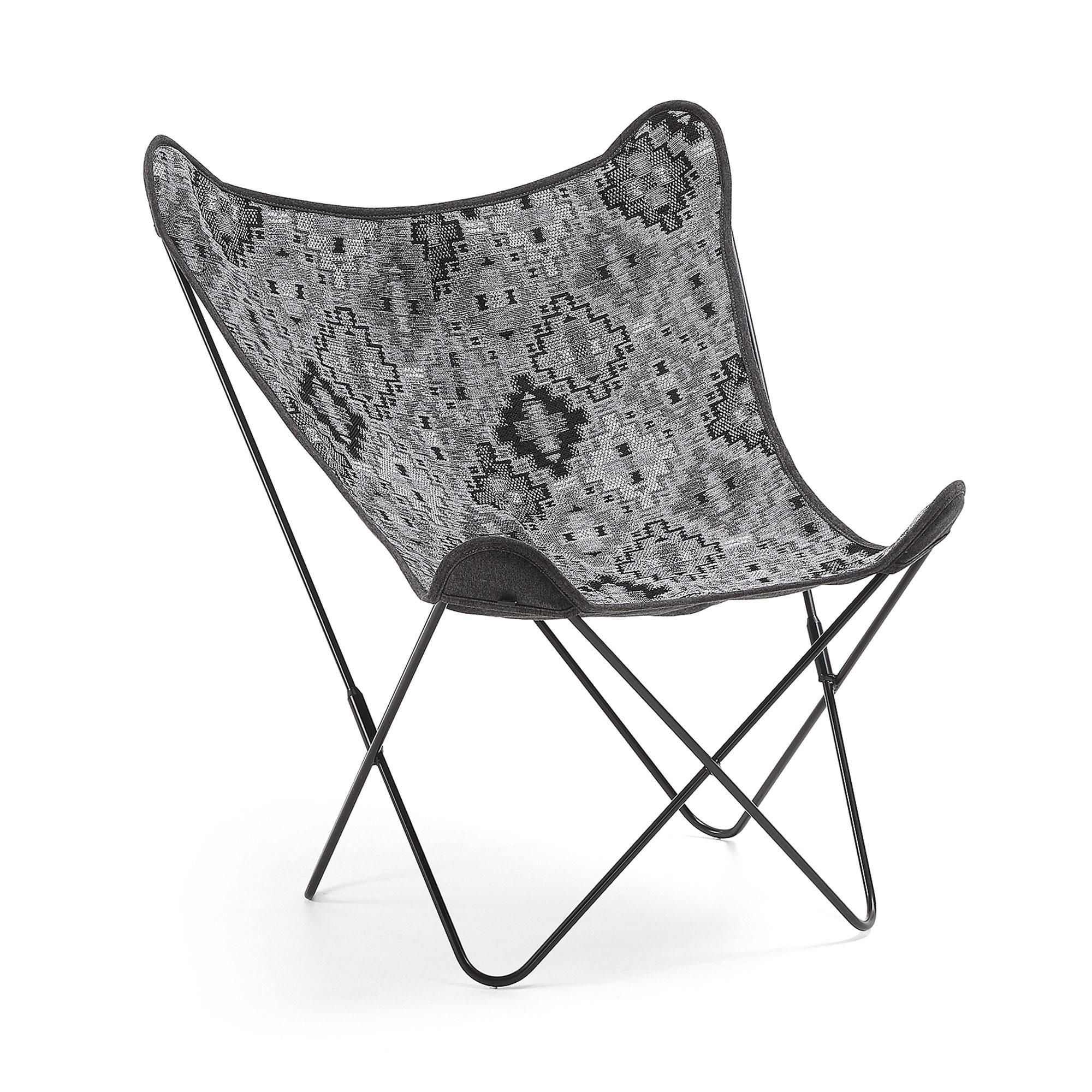 Kave Home Vlinderstoel 'Fly' kleur Donkergrijs