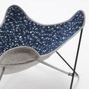 Kave Home Vlinderstoel 'Fly' kleur Donkerblauw