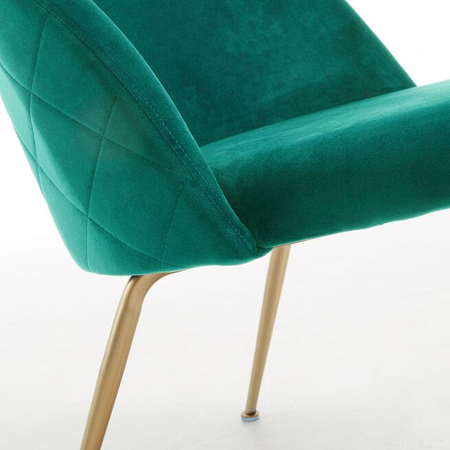 Kave Home Fauteuil 'Ivonne Gold' Velvet, kleur Groen