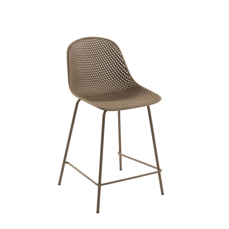 Kave Home Barstoel 'Quinby' kleur Beige (zithoogte 65cm)