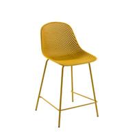 Kave Home Barstoel 'Quinby' kleur Geel (zithoogte 65cm)