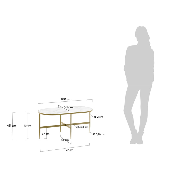Kave Home Salontafel 'Elisenda' 50 x 100cm